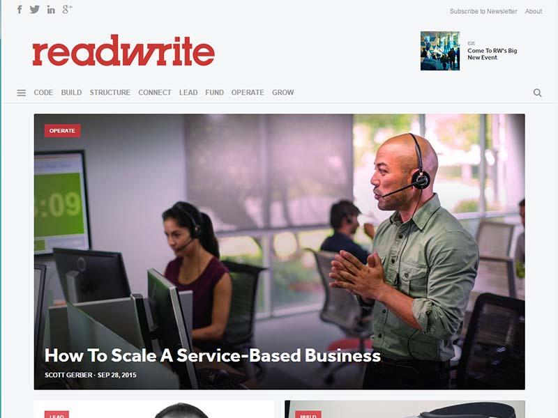 ReadWrite - Website Screenshot
