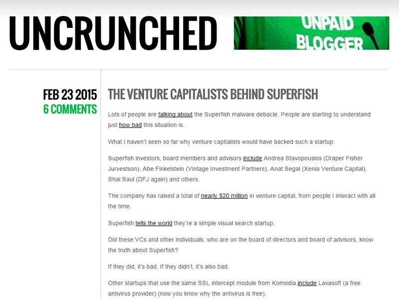 Uncrunched - Website Screenshot