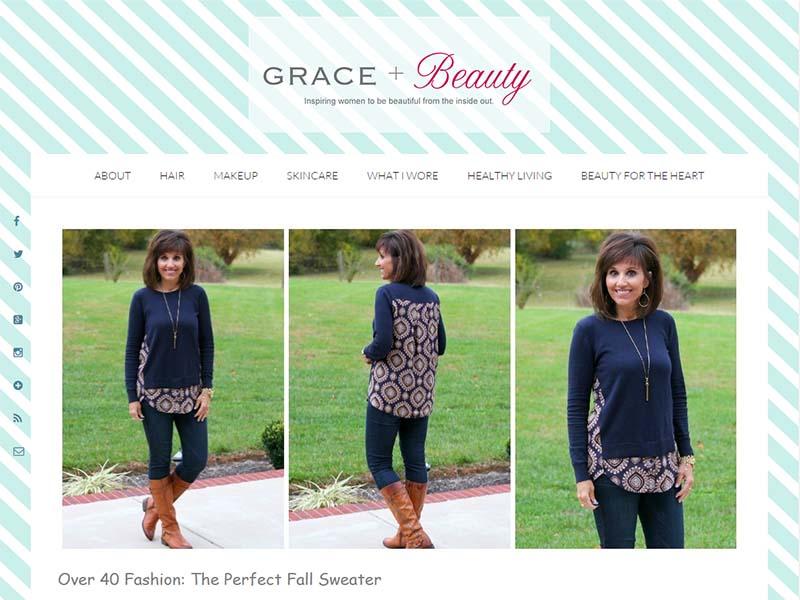 Grace & Beauty - Website Screenshot