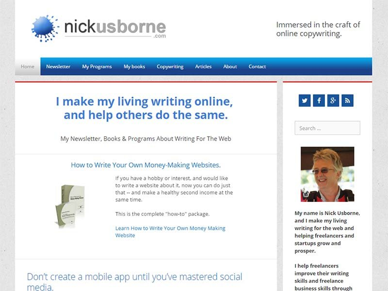 Nick Usborne - Website Screenshot