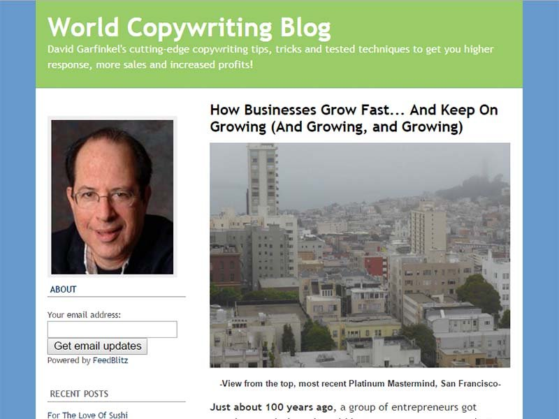World Copywriting Blog - Website Screenshot
