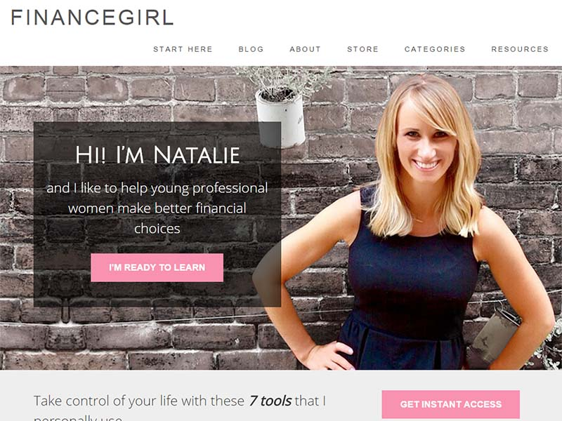 The Finance Girl - Website Screenshot
