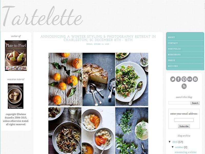 Tartelette - Website Screenshot
