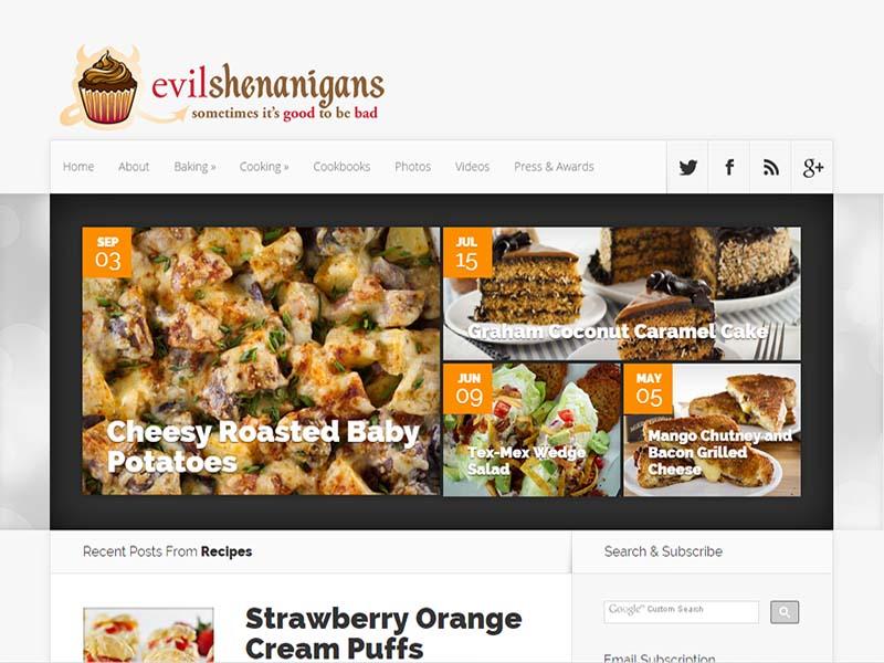 Evil Shenanigans - Website Screenshot