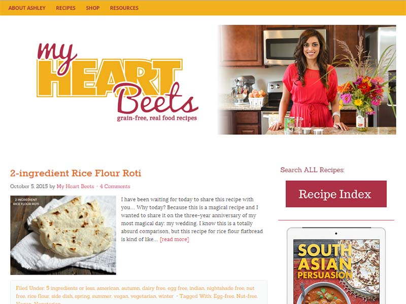 My Hearth Beets - Website Screenshot