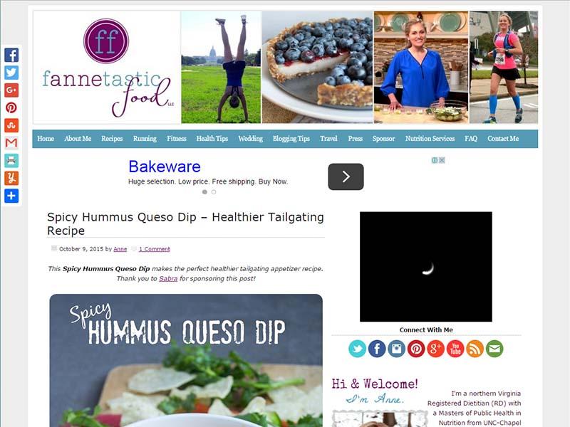 Fannetastic Food - Website Screenshot