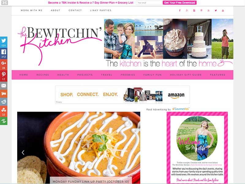 The Bewitchin' Kitchen - Website Screenshot