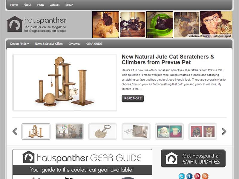 Hauspanther - Website Screenshot