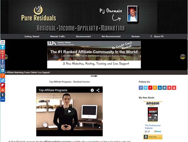 P.J. Germain Interview - Pure Residuals Website Screenshot