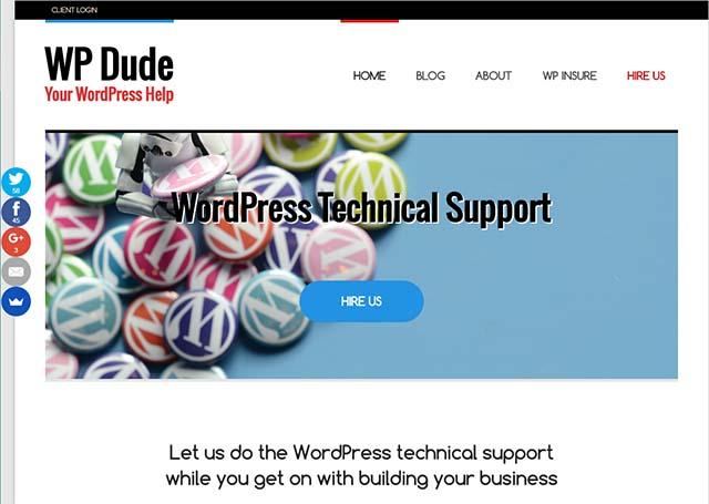 Neil Matthews Interview - WP Dude Website Screenshot