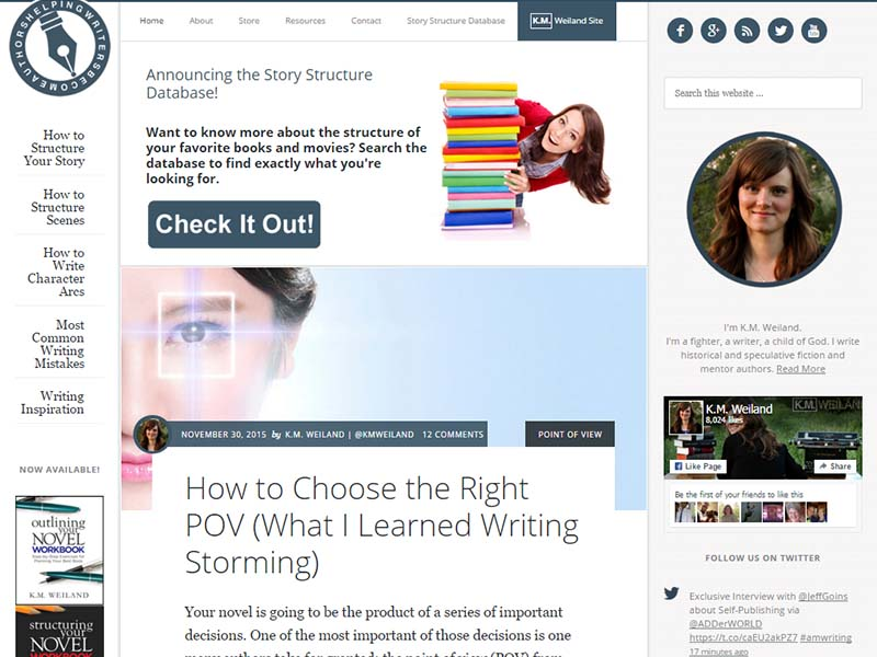 Helping Writers Become Authors - Website Screenshot
