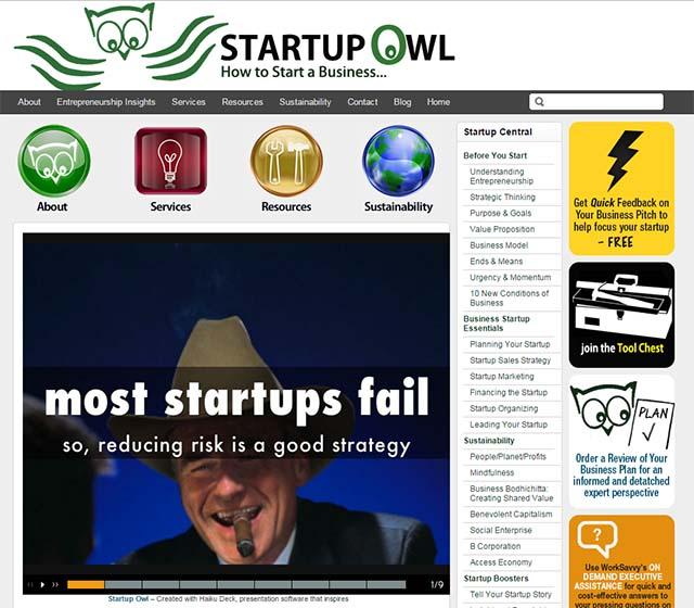 Will Keyser Interview - Startup Owl Website Screenshot