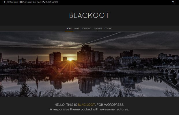 Blackoot Pro Theme Screenshot