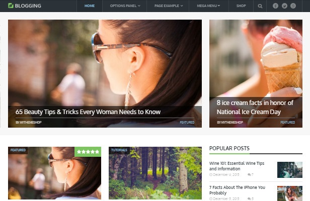 Blogging Theme Screenshot