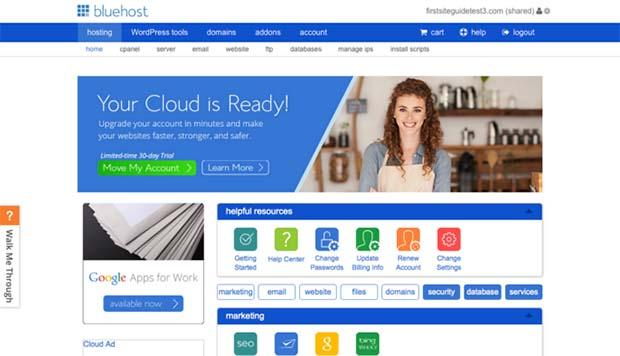 BlueHost Account Portal