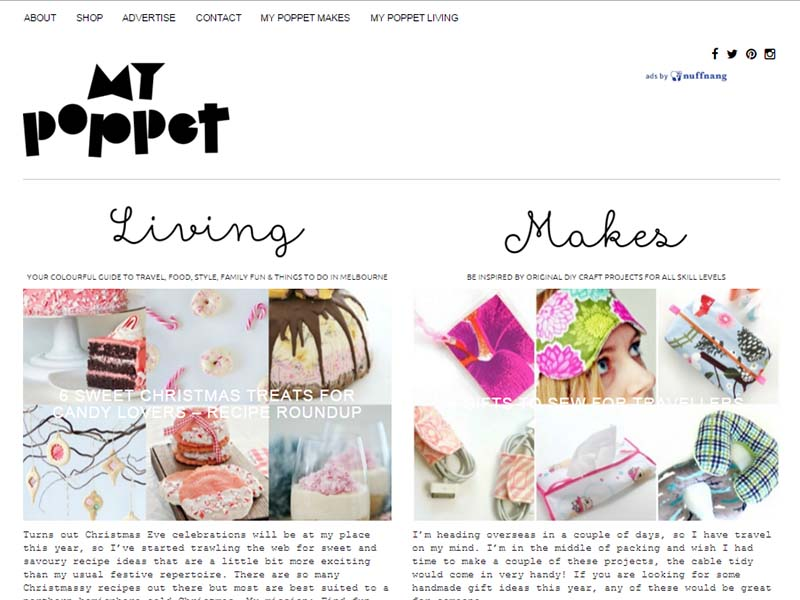 My Poppet Makes - Website Screenshot