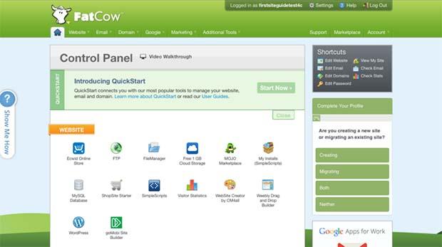 FatCow Control Panel