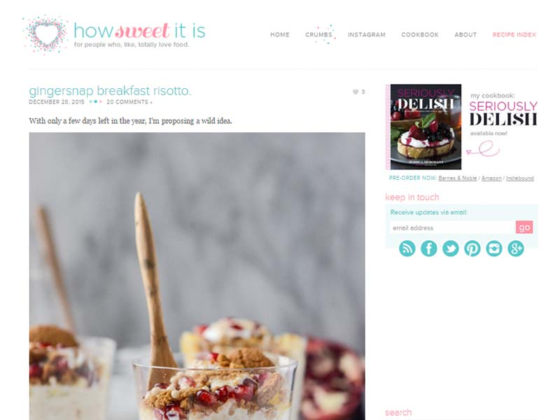 How Sweet Eats - Website Screenshot