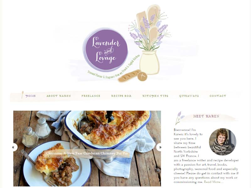 Lavander and Lovage - Website Screenshot
