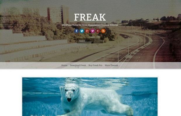 Freak Theme Screenshot