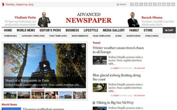 Advanced Newspaper Theme Screenshot