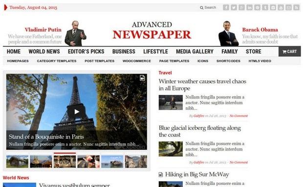 Advanced Newspaper Theme Screenshot