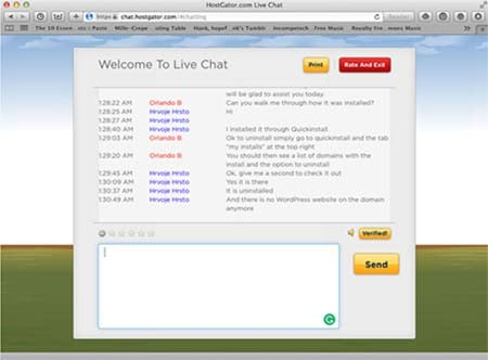 Hostgator chat support