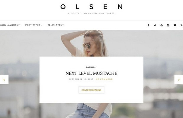 Olsen Theme Screenshot
