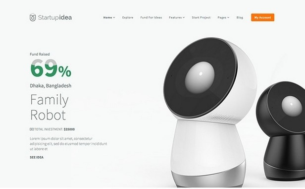 Startup Idea Theme Screenshot
