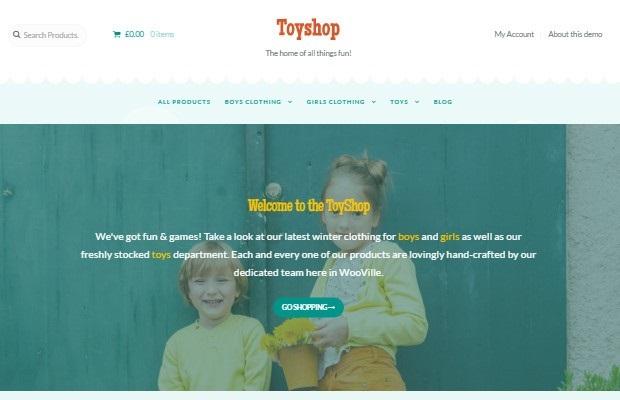 ToyShop Theme Screenshot