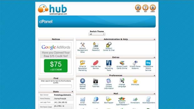 Web Hosting Hub Control Panel