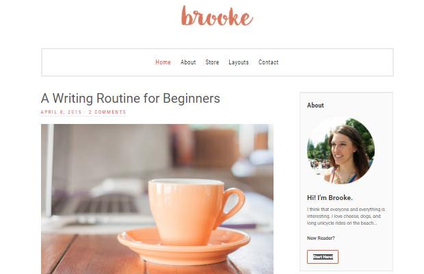 Brooke Theme Screenshot