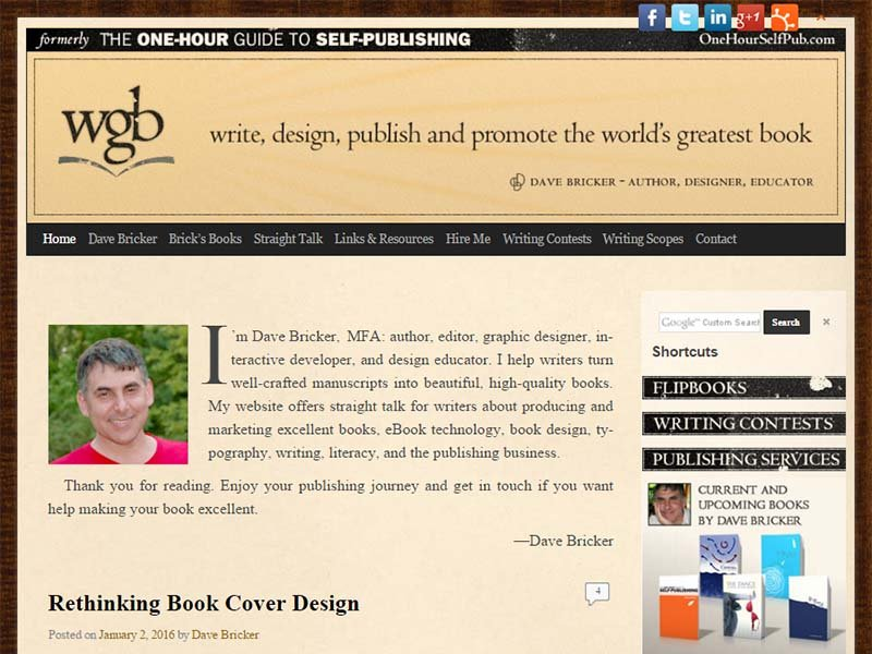 The Worlds Greatest Book - Website Screenshot