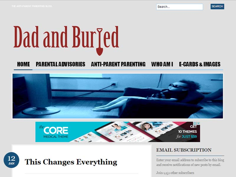 Dad and Buried - Website Screenshot