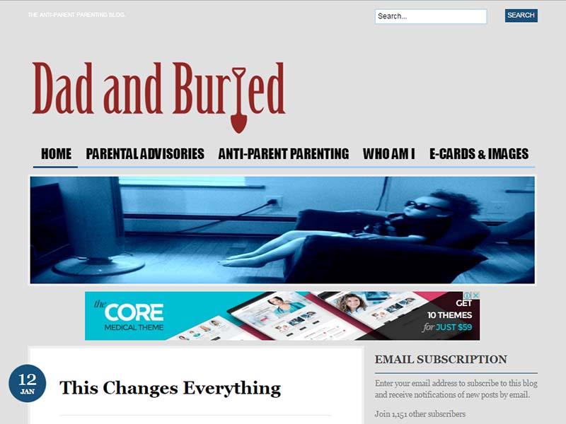 Dad and Buried - Website Screenshot