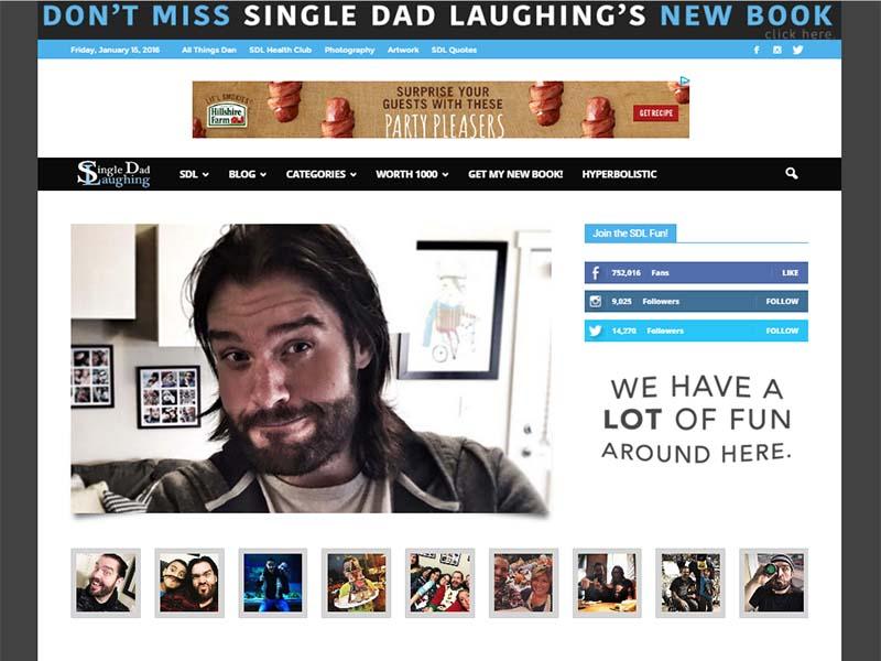 Single Dad Laughing - Website Screenshot