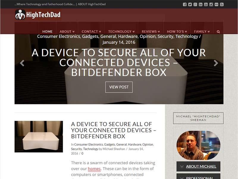 HighTechDad - Website Screenshot