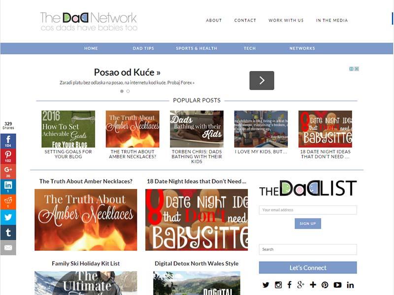 The Dad Network - Website Screenshot