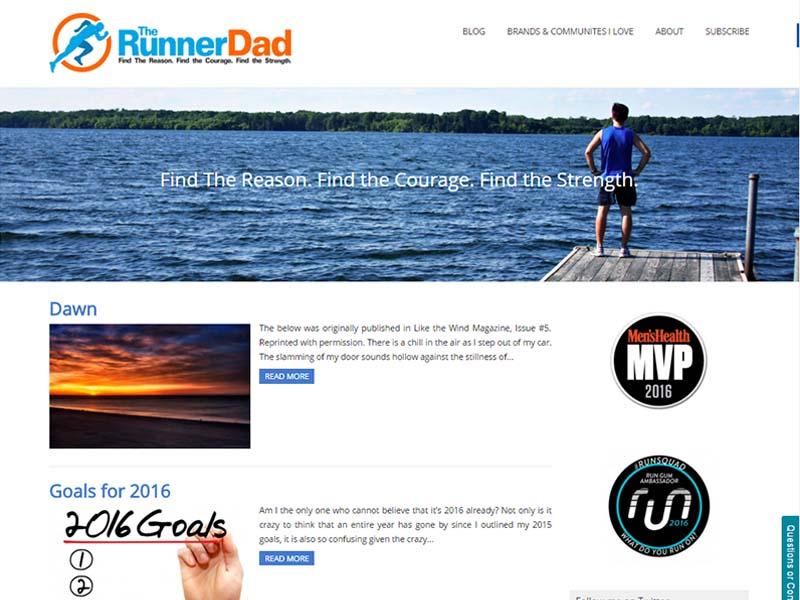 The Runner Dad - Website Screenshot