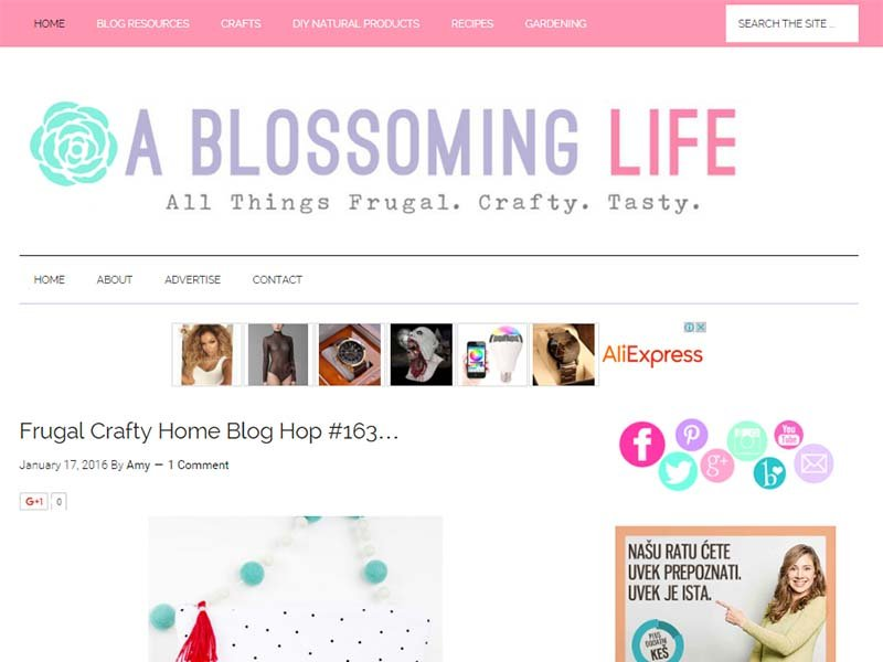 A Blossoming Life - Website Screenshot