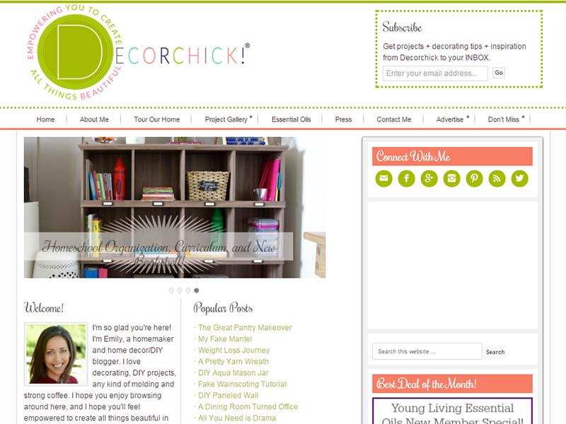Decorchick - Website Screenshot