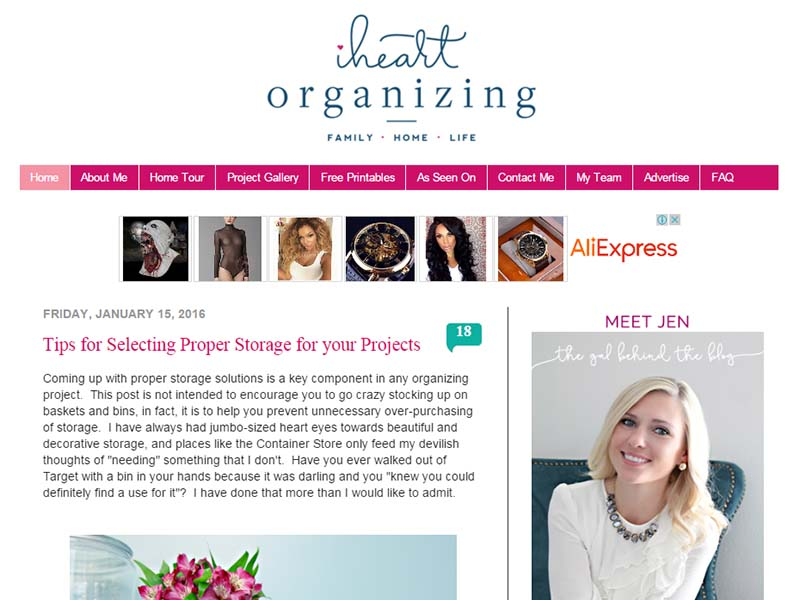 IHeart Organizing - Website Screenshot