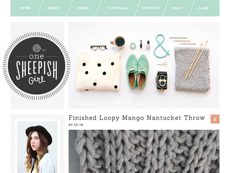 One Sheepish Girl - Website Screenshot