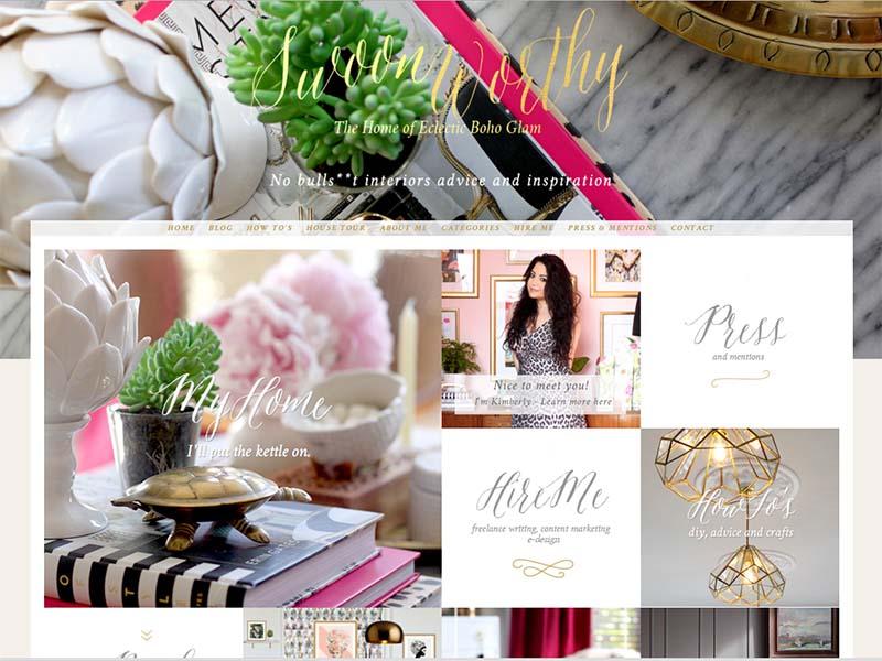 Swoon Worthy - Website Screenshot