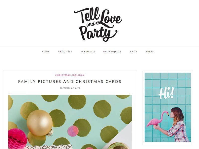 Tell Love and Party - Website Screenshot