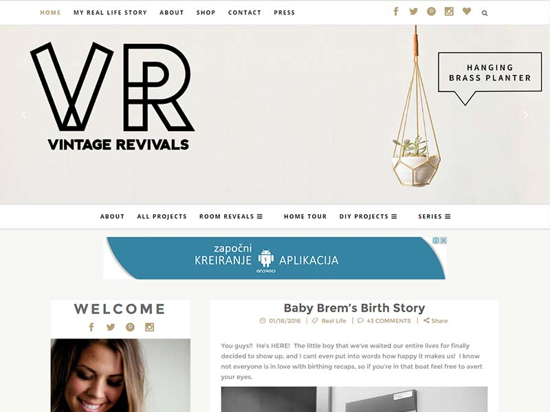 Vintage Revivals - Website Screenshot