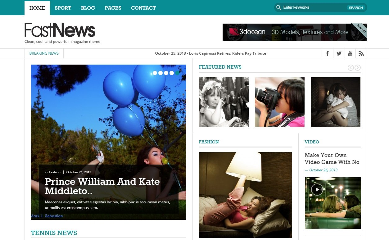 fast-news-wordpress-theme