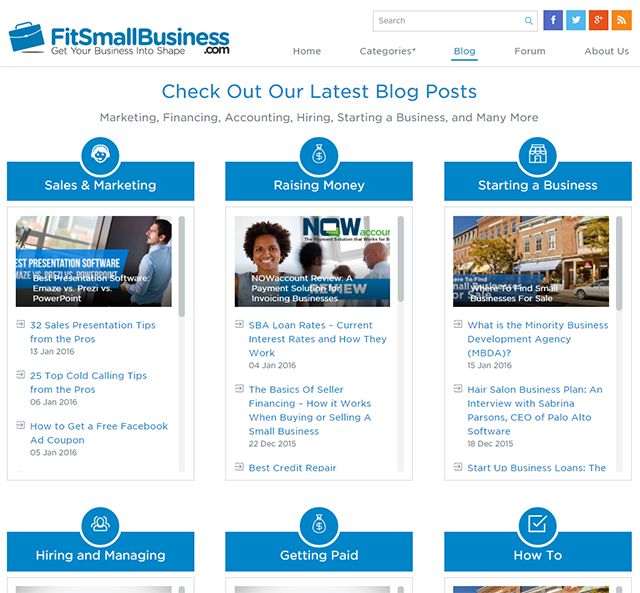 David Waring Interview - Fit Small Business Website Screenshot