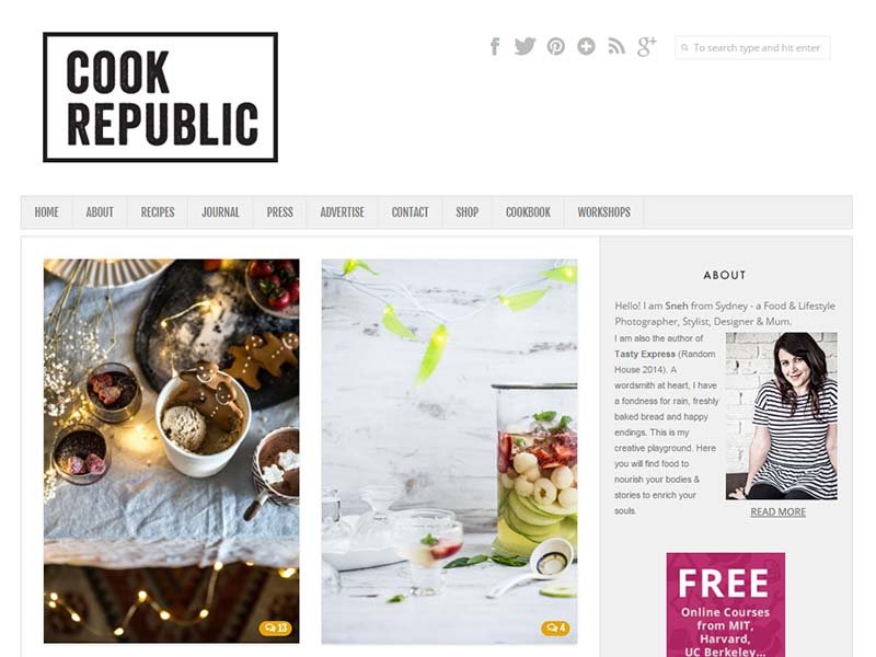 Cook Republic- Website Screenshot