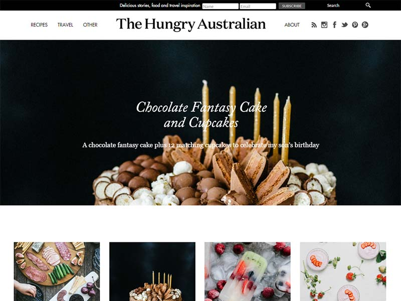 The Hungry Australian - Website Screenshot
